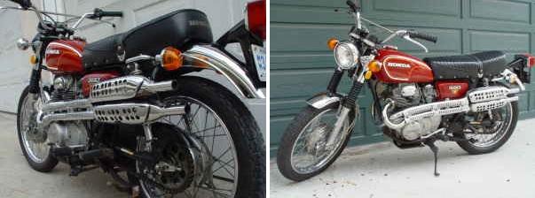 Red Honda Bike